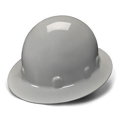 Pyramex Hard Hat Gray SLEEK FULL BRIM With 4 Point Ratchet Suspension, HPS24112