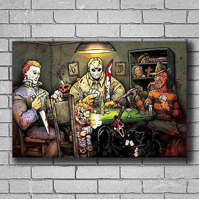 N-772 Michael Myers vs Jason Voorhees SLASHERS Horror Movie Hot Wall Poster Art - Michael Myers Vs Jason Voorhees