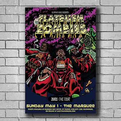 New Flatbush Zombies Rap Music Singers Ablum Custom Poster Print Art Decor T 112