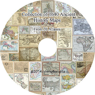 1640 Ancient History Maps from 26 atlases in very high resolution on 4 DVD