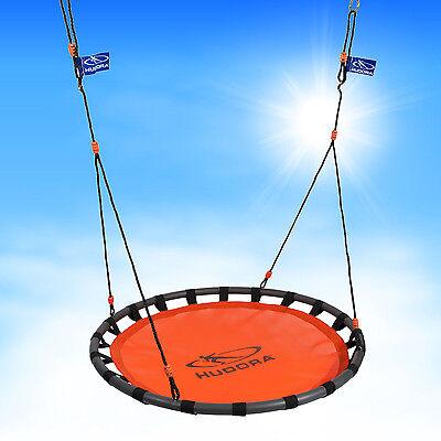 Hudora 72160 Nestschaukel 120cm Ø Kinder Schaukel orange bis 120kg belastbar