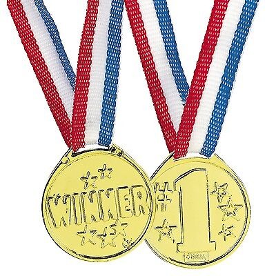 36 Gold Winner Medals Necklace Sports Awards Prizes Birthday Party Favors  - Sports Birthday