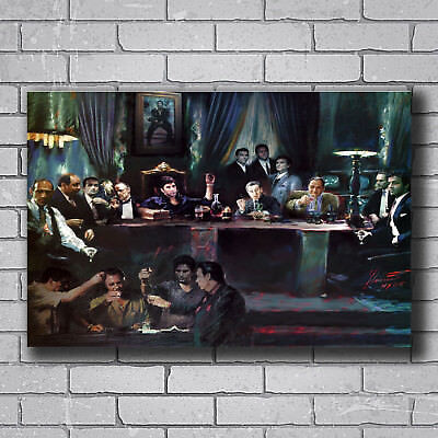 N-504 Al Pacino Scarface Classic Movie Vintage Hot Wall Poster Art 20x30 24x36IN