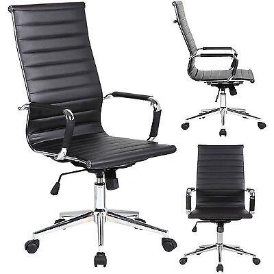 Tall Designer Conference Room Modern Office Highback Tilt Chair Black Arms Desk