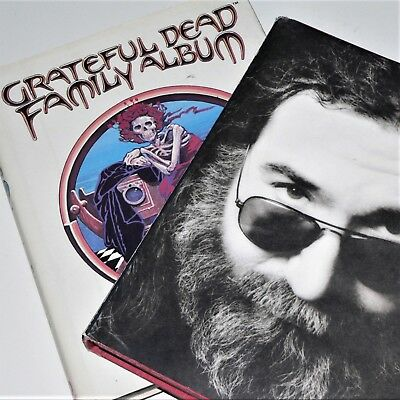 GRATEFUL DEAD - FAMILY ALBUM & GARCIA - 2 x books - vgc - Band history -
