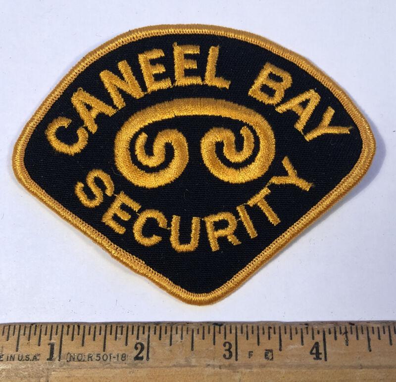 Vintage Caneel Bay Resort Security Guard Officer Patch St. John Virgin Islands