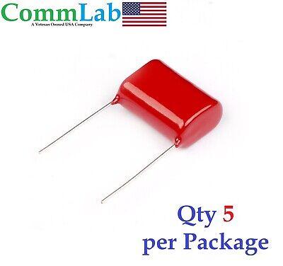 0.47uf 630v 5 Metalized Polypropylene Film Capacitors P20 5 Pieces .47uf