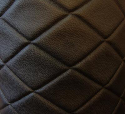 Black Leather Upholstery - Vinyl Leather Faux vinyl Black 6