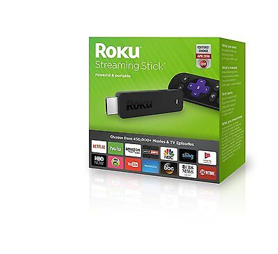 Roku TV Streaming Media Digital Player HD HDMI Smart Channels Movies 3 FREE NEW