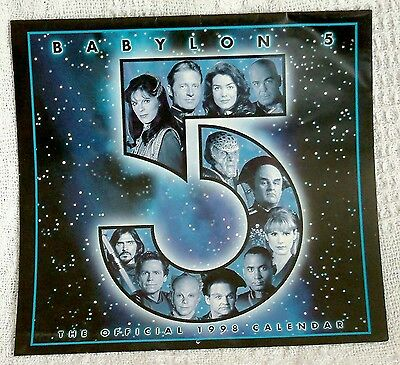 BABYLON 5 - THE OFFICIAL 1998 CALENDAR - US VERSION - NEAR MINT CONDITION