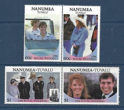 TUVALU - NANUMEA - 65-68 -  MNH - 1986 - ROYAL WEDDING -