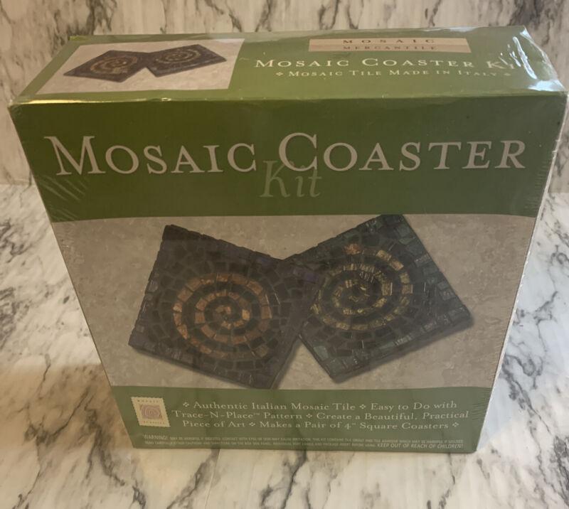 Italian Authentic Mosaic Mercantile Coaster Kit  New sealed box