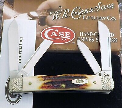 Case Red Stag Congress Knife New 2012 Fantastic Red Stag Mint In Deluxe Box! NR