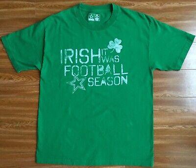 Mens Cowboys Team Apparel Irish St. Patrick's Day Luck Football T Shirt Size L ](St Patrick's Day Apparel)