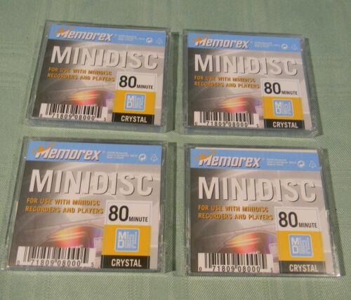 4 Memorex MD 80 Mini Discs Crystal
