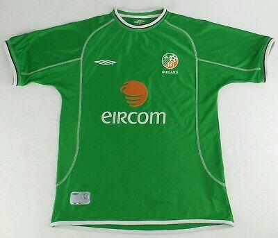 77ac49d91d3 Vintage Umbro 2001-2002 Ireland National Team Soccer Jersey Size Mens  Medium M