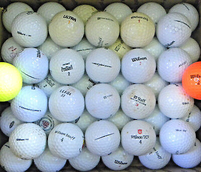 (50) Fifty Lightly Used Wilson (Mix) Golf Balls AAA (see scale/pics)](Light Golf Balls)