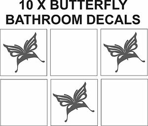 10 X Butterfly Tile Transfer Stickers Kitchen Bathroom EBay