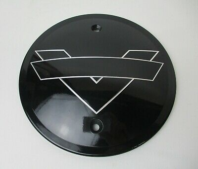 RF Custom Parts Shadow Derby Cover Gloss Black ALL 03-up Victory Models 2881748