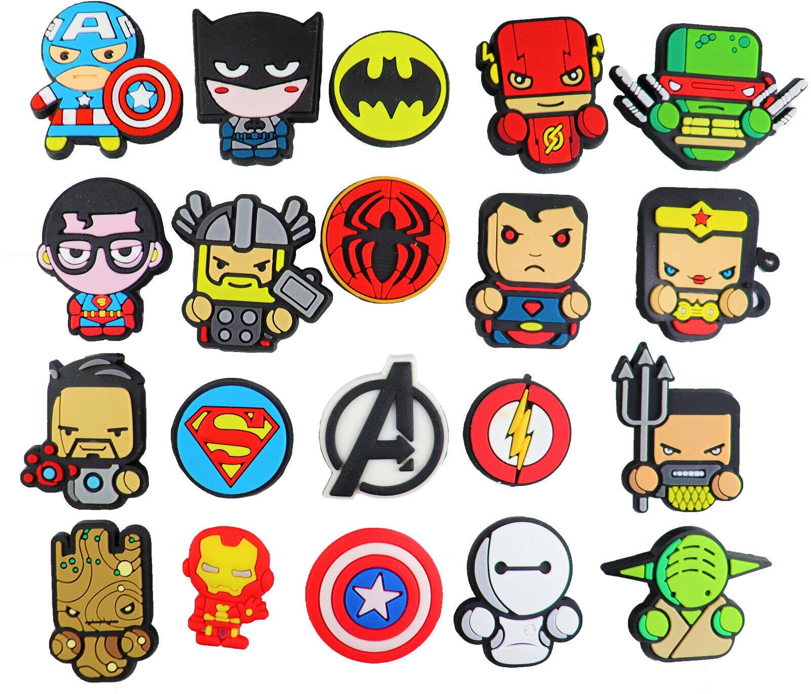 20 pcs superheroes croc charms for croc