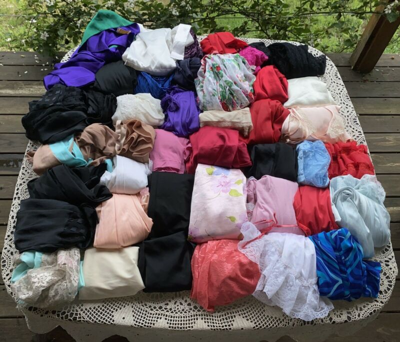 Vintage Nightgowns Robes Lingerie Nylon  Mixed Victoria Secret Slips 43 Pc Lot