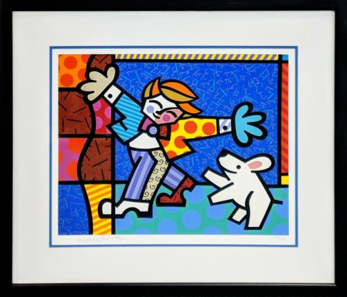 "Romero Britto ""brendan And The Wishing Dog"" 1996 