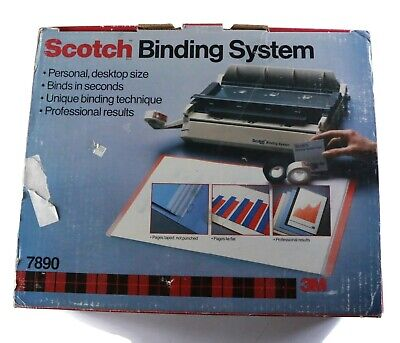Scotch Binding System Model 7890 3m - With Binding Covers And Instructions