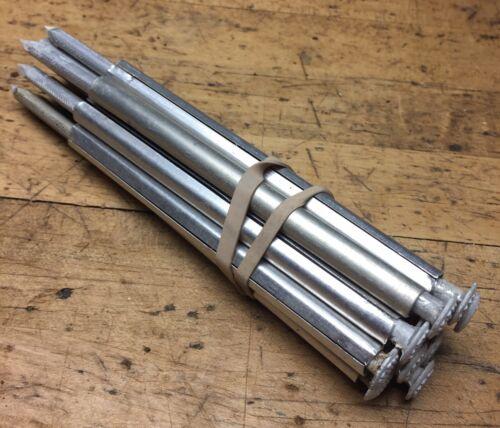 Group Of 12 7In. Aluminum White Head Gutter Spikes 12 5 Alum. Ferrules - $8.00