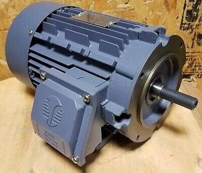 NEW TECHTOP 1/2 HP 3 PHASE INDUSTRIAL MOTOR  /   BL3-AL-TF-56C-2-B-D-0.5