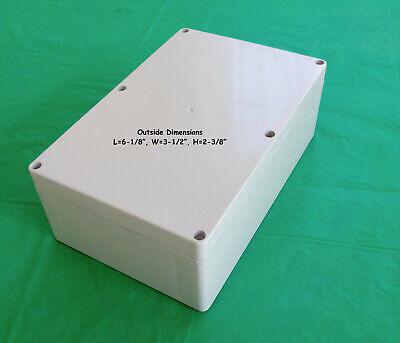 Project Box Electronic Enclosure L6-18 W3-12 H2-38. Plastic