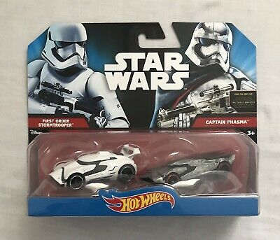 Hot Wheels Star Wars Diecast First Order Stormtrooper & Captain Phasma Brand New