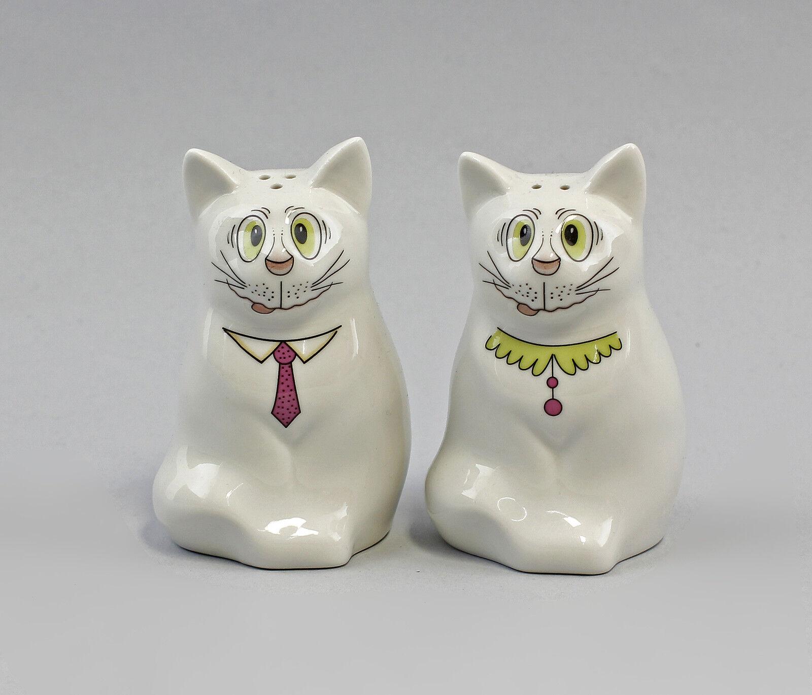 Kämmer-Porcelain  Shaker Cat Caricature Cravat Pink H9CM a3-44270