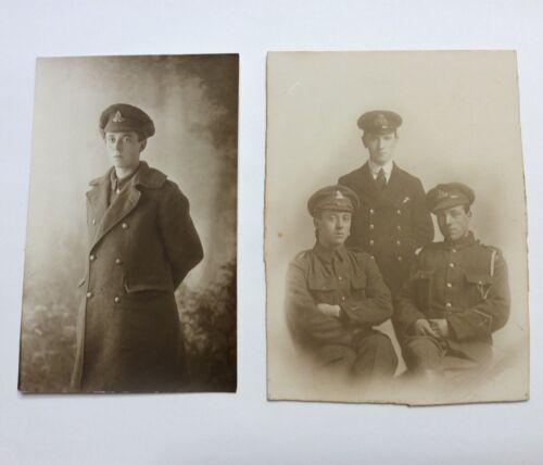 ORIGINAL WW1 CANADA/BRITISH NAMED POSTCARD PAIR WARWICKSHIRE REGT WOUND STRIPE