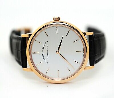 A. Lange & Sohne Saxonia Thin Manual Wind 211.032 18k Rose Gold Mens Watch