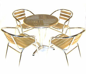 Ash Bistro Furniture Ash Cafe Table And Chairs Cheap Wooden Garden Furniture Ebay
