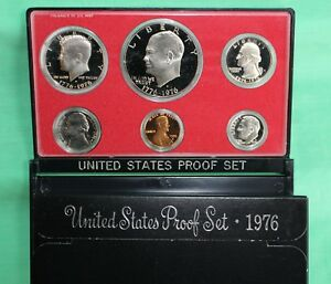1976 US Mint Annual 6 Coin Proof Set BiCentennial Year Original Box