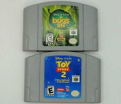 A Bugs Life Toy Story 2 N64 lot 2 Nintendo 64 Tested Authentic Clean Carts Only