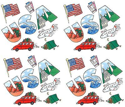 Frances Meyer USA United States Road Trip Scrapbook Stickers 4 Sheets State Usa Scrapbooking Stickers