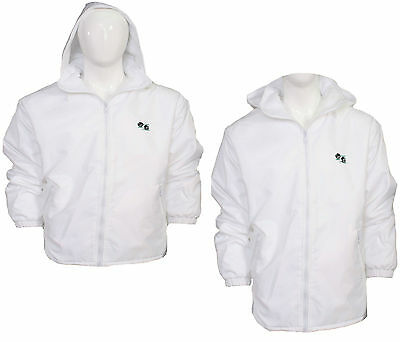 Mens Womens New Bowls Bowling White Fleece Lined Waterproof Jacket Coat Hoodie