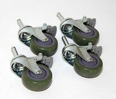 Lot Of 4 Medical Bed Heavy Duty 3 Swivel Casters With Brakes