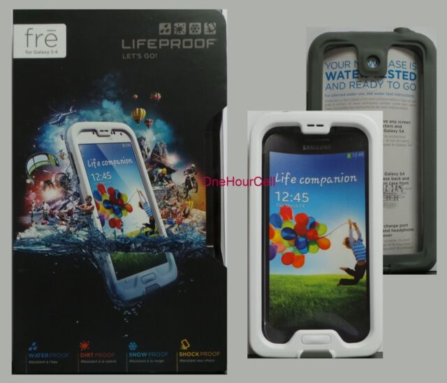 LifeProof FRE Waterproof Case for Samsung Galaxy S4 White / Gray, 1802-02