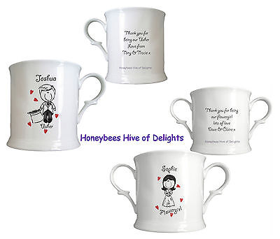 PERSONALISED WEDDING Role CUPS Mug GIFT Ideas For Thank You for Being My - Personalized Cups For Wedding