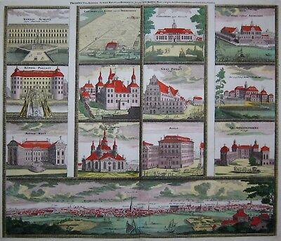 Stockholm - Homann 1720 - Original - Rare engraving - Old coloured