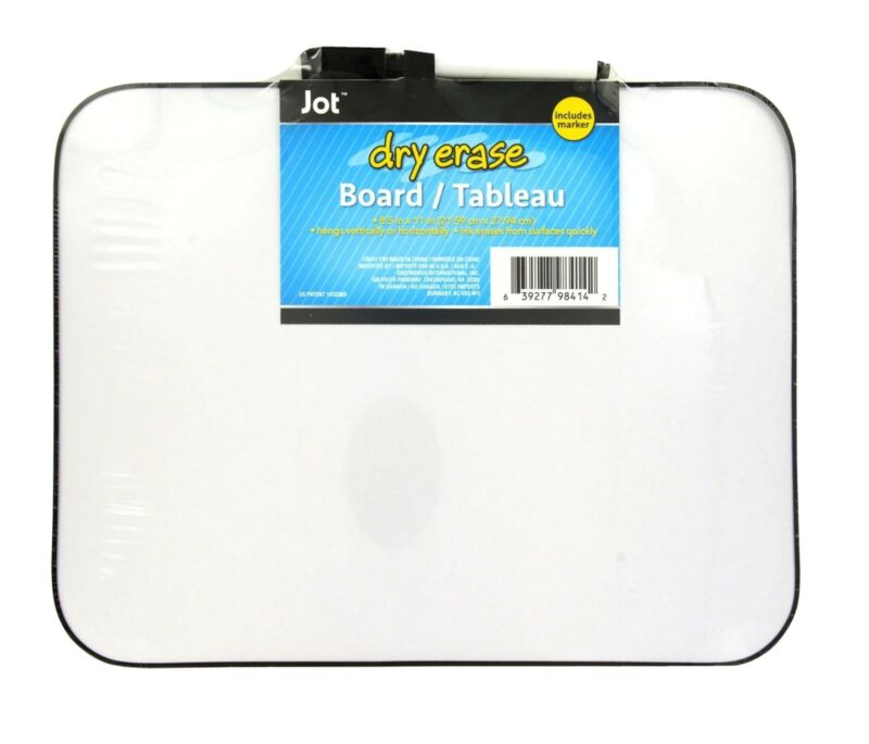 Dry Erase Board with Marker - Magnetic Whiteboard 8.5 x 11 inches
