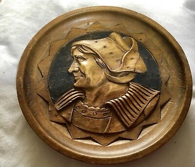 Carved Wooden Plate Or Wall Hanging