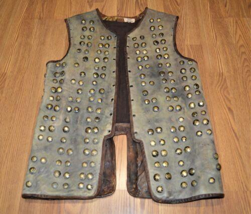 Vikings Screen Worn Leather Armor Vest, Medieval Viking Leather Armor, Brigadine