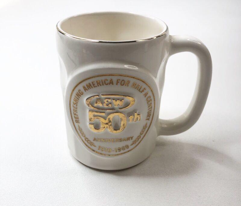 Vintage A&W Root Beer 50th Anniversary 1919-1969 Florence Ceram Souvenir Mug