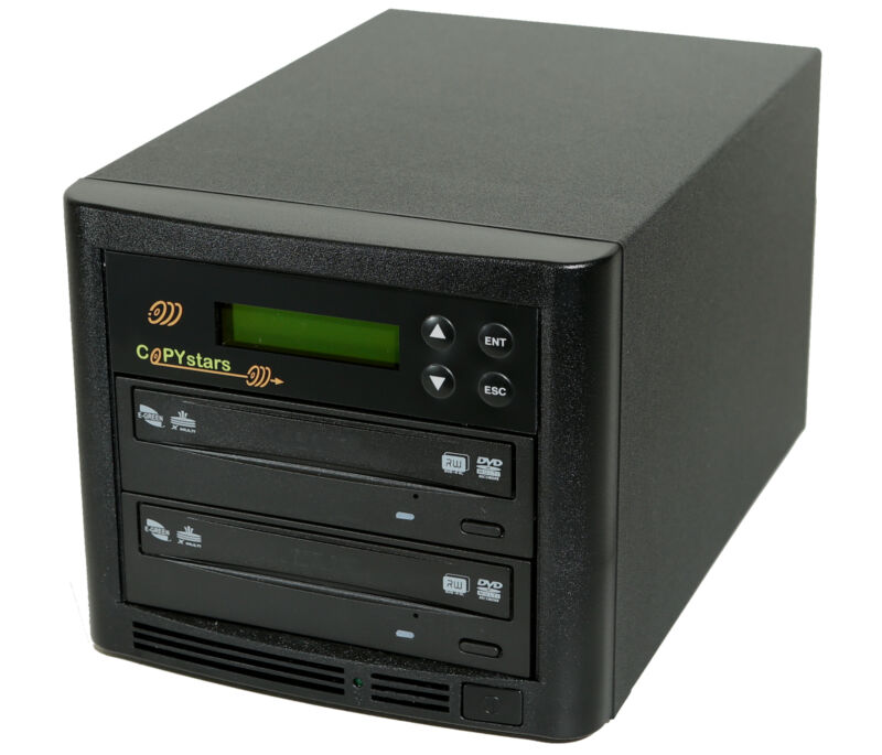 Copystars CD DVD Duplicator 1-1 Drive 24X Media dvd Burner Recorder Copier Tower