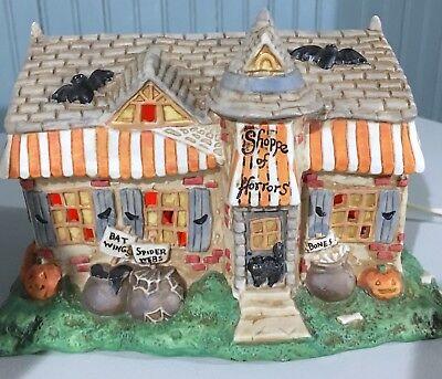 Creepy Hollow Halloween Shoppe Of Horrors Lighted House Spooky Decor (Hollow Halloween)