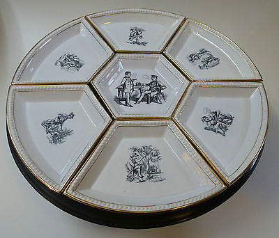 Tafelaufsatz drehbar Kabinett Keramik Wächtersbach um 1850  Durchm. 40cm